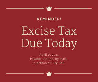 Excise Tax Bill Due 2021