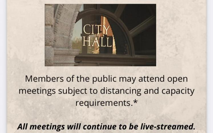 In-person Meetings at City Hall