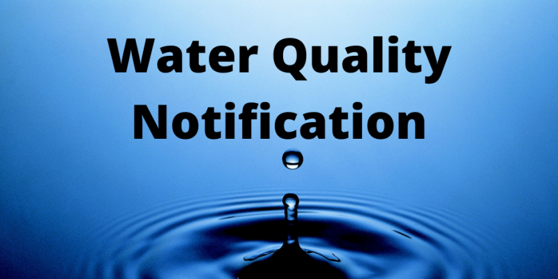 Water quality notification